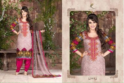 Picture of Exclusive Dress Coral & Dusty Rose