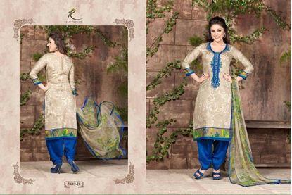 Picture of Exclusive Dress Cobalt & Grey