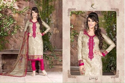 Picture of Exclusive Dress Fuchsia & Neutral
