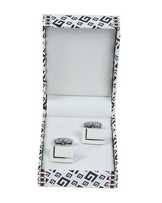 Picture of Yamin Exclusive Men's Cufflink - White