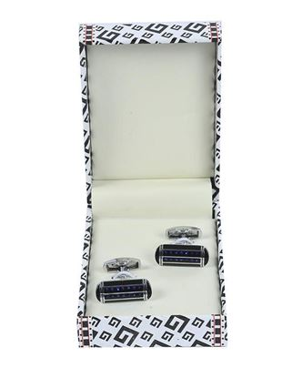 Picture of Yamin Exclusive Men's Cufflink - Black and Blue