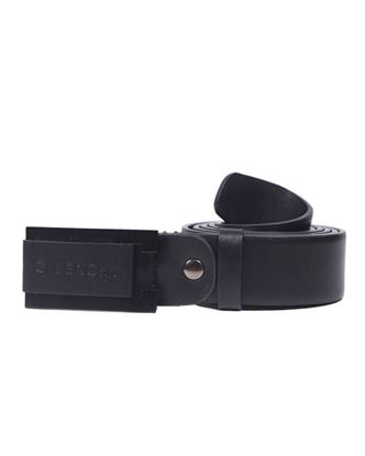 Picture of Yamin Exclusive Leather Formal Belt for Men - Givenchy Black