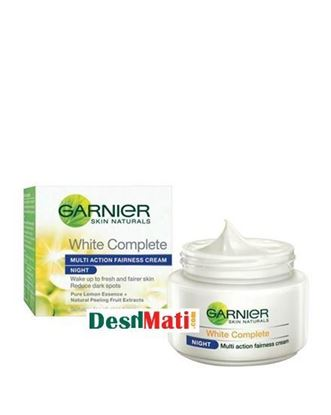 Picture of Garnier Skin Naturals Multi Action Fairness Night Cream For Women - 40gm