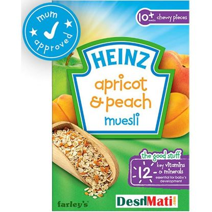 Picture of 10+ Months Heinz Apricot And Peach Muesli - 240g