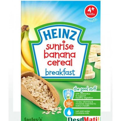 Picture of Heinz Sunrise Banana Cereal Breakfast For Babies - 125g