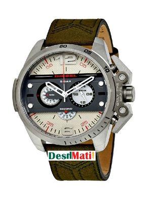 Picture of DIESEL Leather Quartz Chronograph Watch for Men - Dark Golden