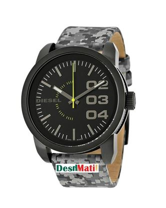 Picture of DIESEL Leather Analog Watch for Men - Grey