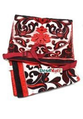 Picture of Muslim Prayer Hand Bag Janamaz Syria -Red and Cream