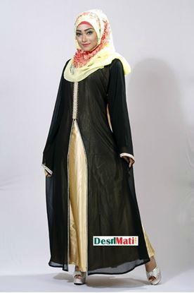 Picture of Raka Fashion Exclusive Women's Black & golden Borka Code#9015