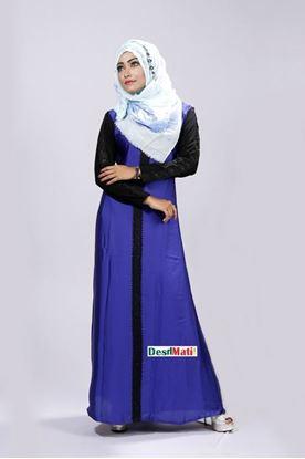 Picture of Raka Fashion Exclusive Women's Royal Blue Borka Code#9013