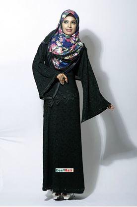 Picture of Raka Fashion Exclusive Women's Black Stylish Party Borka Code #9007