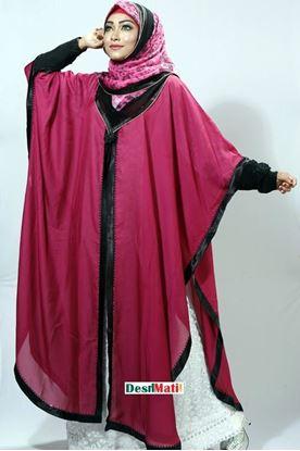 Picture of Raka Fashion Exclusive Women's Maroon Abaya Code#9501