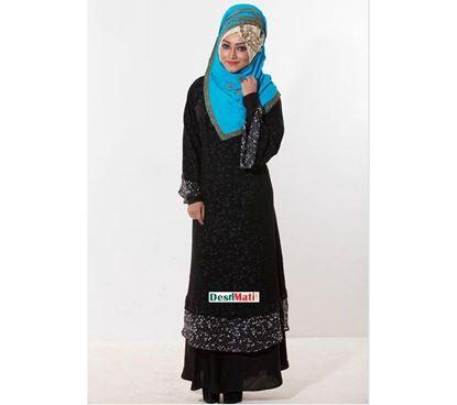 Picture of Raka Fashion Exclusive Women's Black Party Borka Code#9011