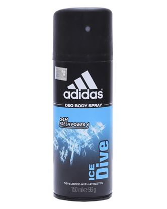 Picture of Adidas Ice Dive 24hrs Deo Spray For Men - Black