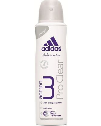 Picture of Adidas Action 3 Dry Max Pro Clear Deo Spray for Women - 150ml