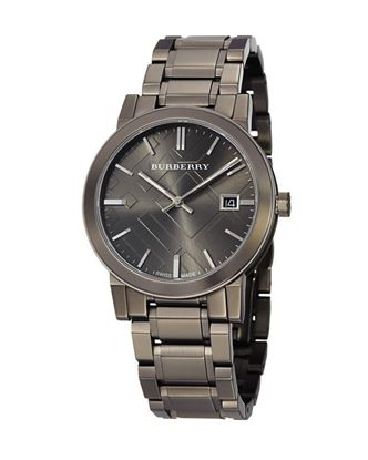 Picture of Burberry Stainless Steel Analog Watch for Men - Gunmetal