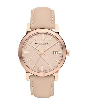 Picture of Burberry Leather Analog Watch for Men - Beige
