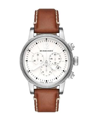 Picture of Burberry Leather Analog Chronograph Watch - Brown