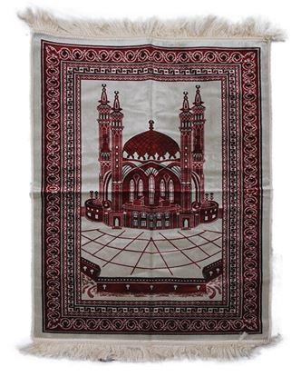 Picture of Muslim Prayer Janamaz - Maroon