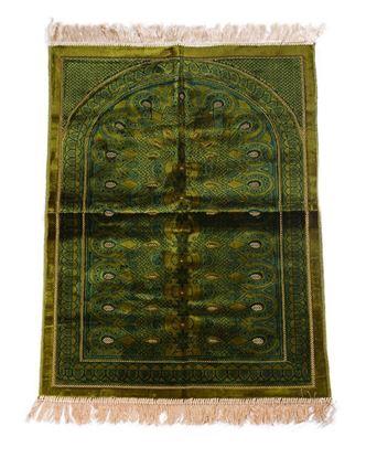 Picture of Muslim Prayer Velvet Janamaz - Dark Green