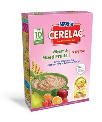 Picture of NESTLÉ CERELAC Wheat & Mixed Fruits (Stage3, 10 month +) BIB-400gm