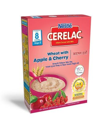Picture of NESTLÉ CERELAC Apple & Cherry Stage 2 (8 months +) BIB-400gm