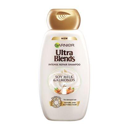 Picture of Garnier Ultra Blends Intense Repair Shampoo - Soy Milk & Almonds - 340ml