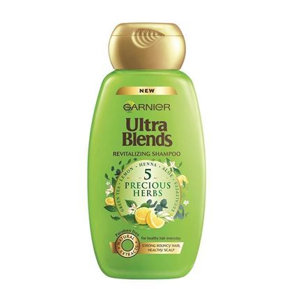 Picture of Garnier Ultra Blends Revitalizing Shampoo - 5 Precious Herbs - 75ml