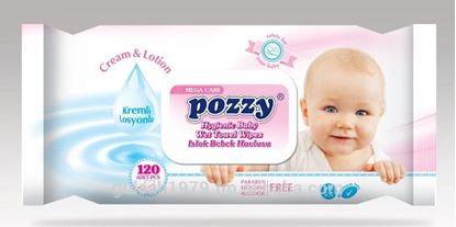 Picture of POZZY Hygienic Baby Wet Towel Wipes - 120 Pcs