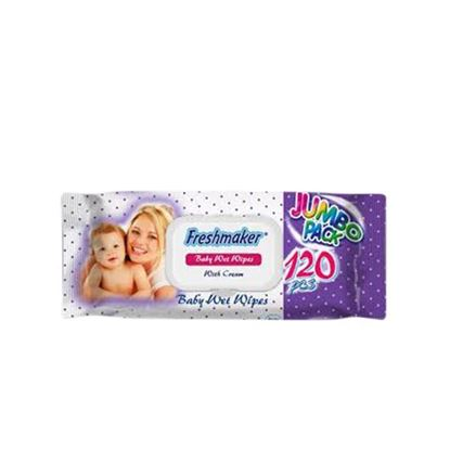 Picture of Freshmaker Baby Wet Wipes Jumbo Pack - 120 Pcs