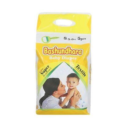 Picture of Bashundhara Baby Diaper Mini Series S 3-6 Kg - 5Pcs
