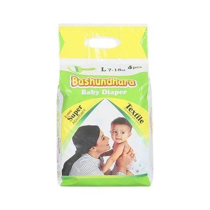 Picture of Bashundhara Baby Diaper Mini Series L 7-18 Kg - 4Pcs
