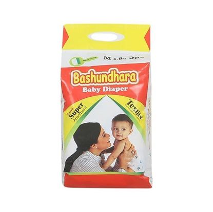 Picture of Bashundhara Baby Diaper Mini Series M 4-9 Kg - 5Pcs