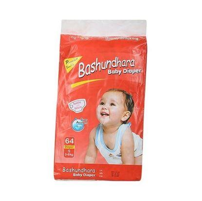 Picture of Bashundhara Baby Diaper Jumbo Series S 3-6 Kg - 64Pcs