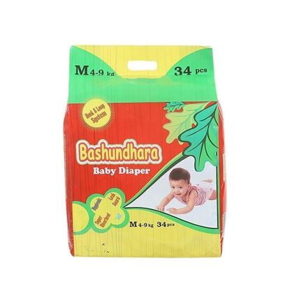 Picture of Bashundhara Baby Diaper Standard Series M 4-9 Kg - 34Pcs