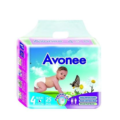 Picture of  Avonee Diaper –Maxi (7-18 Kg)-25Pcs