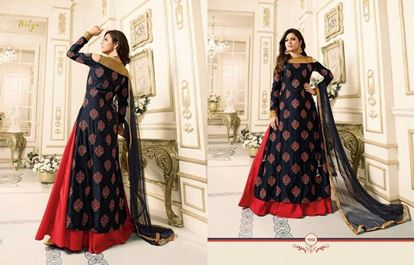 Picture of LT Fabric Original Indian Gown Black And Red