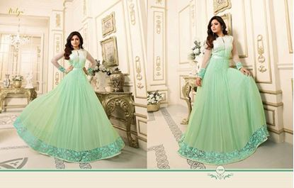 Picture of LT Fabric Original Indian Gown Emerald