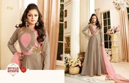 Picture of LT Fabric Original Indian Gown Steel Grey