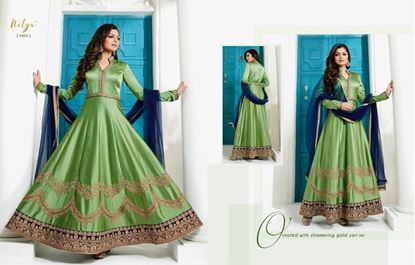 Picture of LT Fabric Original Indian Gown Light Green