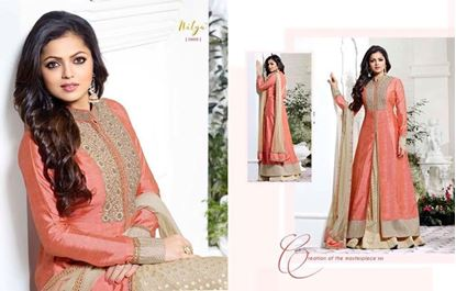 Picture of LT Fabric Original Indian Gown Dusty Rose