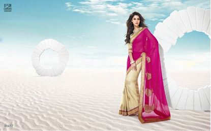 Picture of Original Indian Pure & Soft Georgette Saree