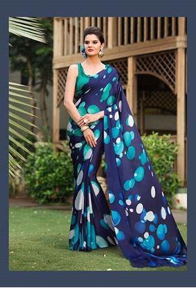Picture of ORIGINAL INDIAN  Satin Georgette Festival Wear Saree