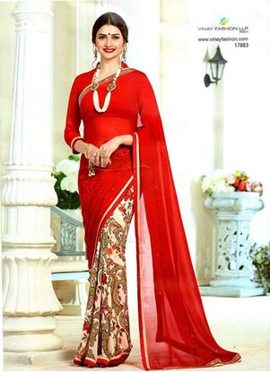 Picture of Original Indian Pure Chiffon Georgette Saree