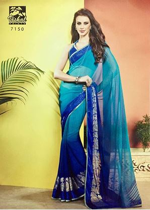 Picture of ORIGINAL INDIAN Soft Georgette Blue