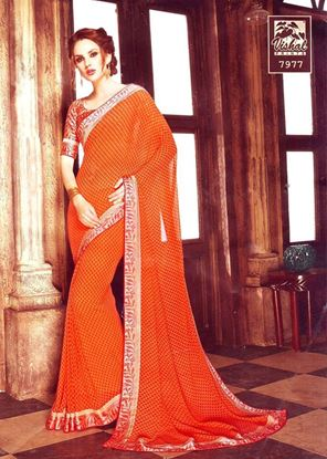 Picture of ORIGINAL INDIAN Soft Georgette Orange