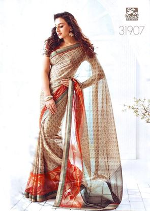 Picture of ORIGINAL INDIAN Soft Georgette Off-White