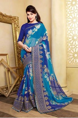Picture of ORIGIN INDIAN Soft Georgette Blue