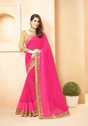 Picture of Original Indian georgette Pink