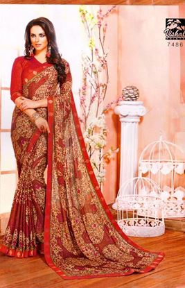 Picture of ORIGINAL INDIAN PURE GEORGETTE RED